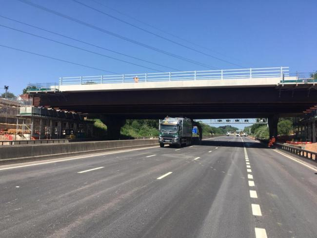 The M27 has reopened 36 hours ahead of schedule following the Romsey Road bridge work this weekend