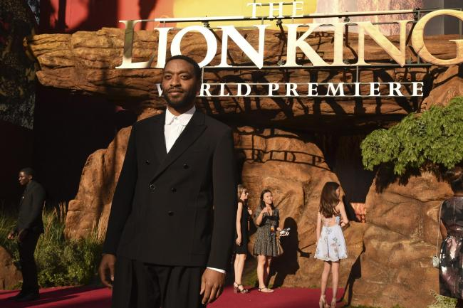 Chiwetel Ejiofor arrives at the world premiere of The Lion King
