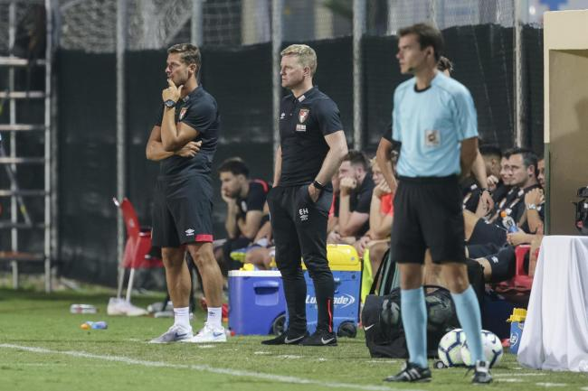 LA MANGA TEST: Eddie Howe and Jason Tindall on the touchline in Spain last pre-season (Picture: AFC Bournemouth)