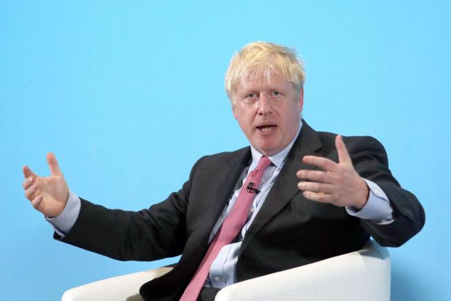 Conservative Party leadership candidate Boris Johnson during a Tory leadership hustings in Maidstone, Kent
