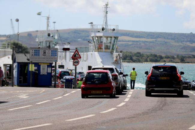 Traffic leading up to the Sandbanks ferry..