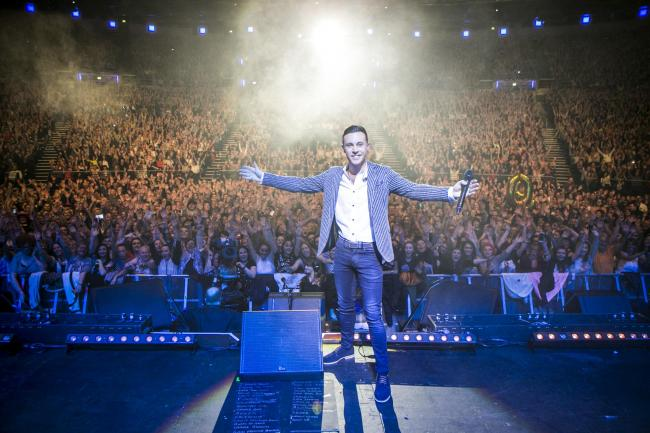 Nathan Carter performs at the 3Arena in Dublin. Picure: Kyran O'Brien