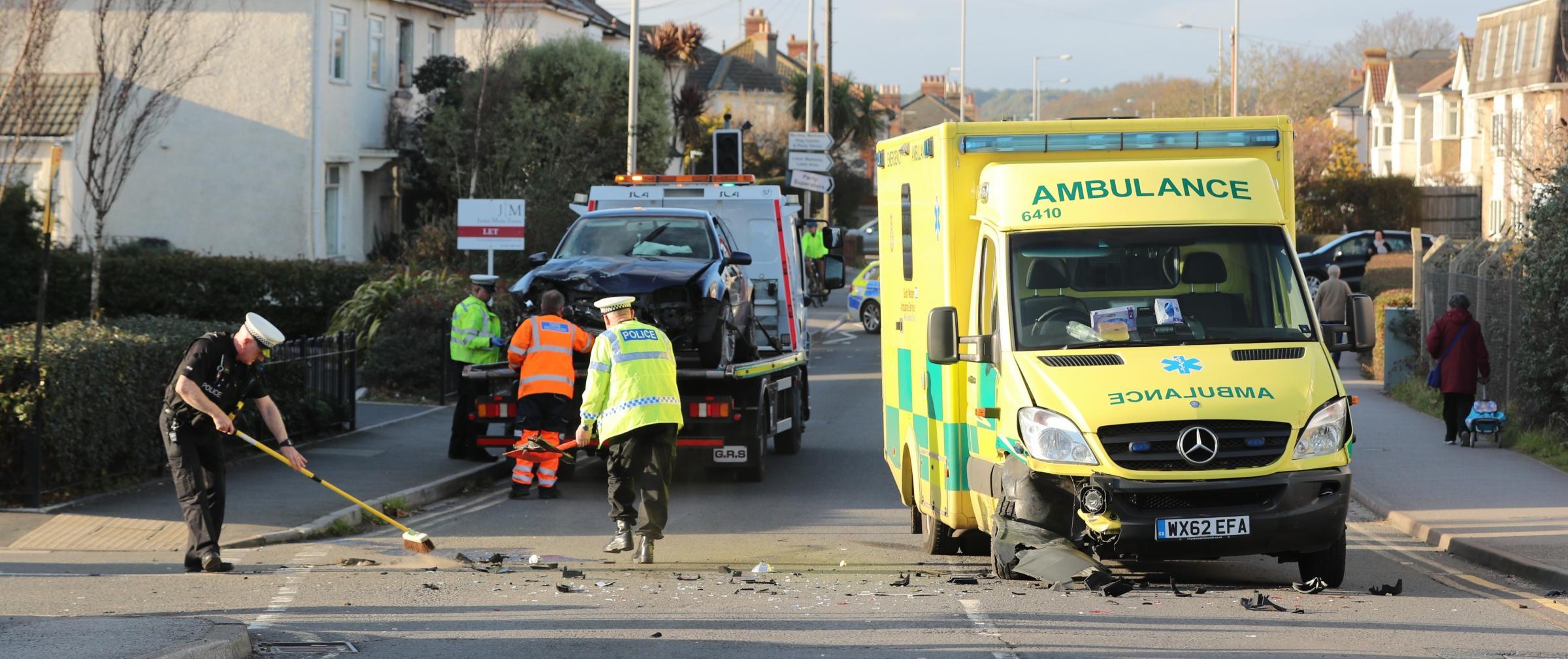 Crash in Fairmile Road, Christchurch as police pursue