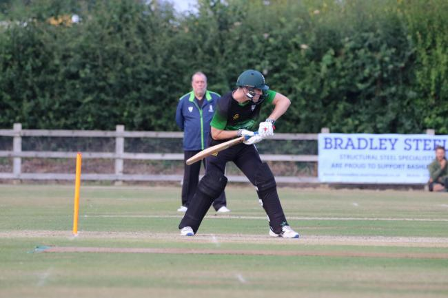 Dorset skipper Luke Webb batting against Hampshire at Bashley on Wednesday (Picture: James Robinson)