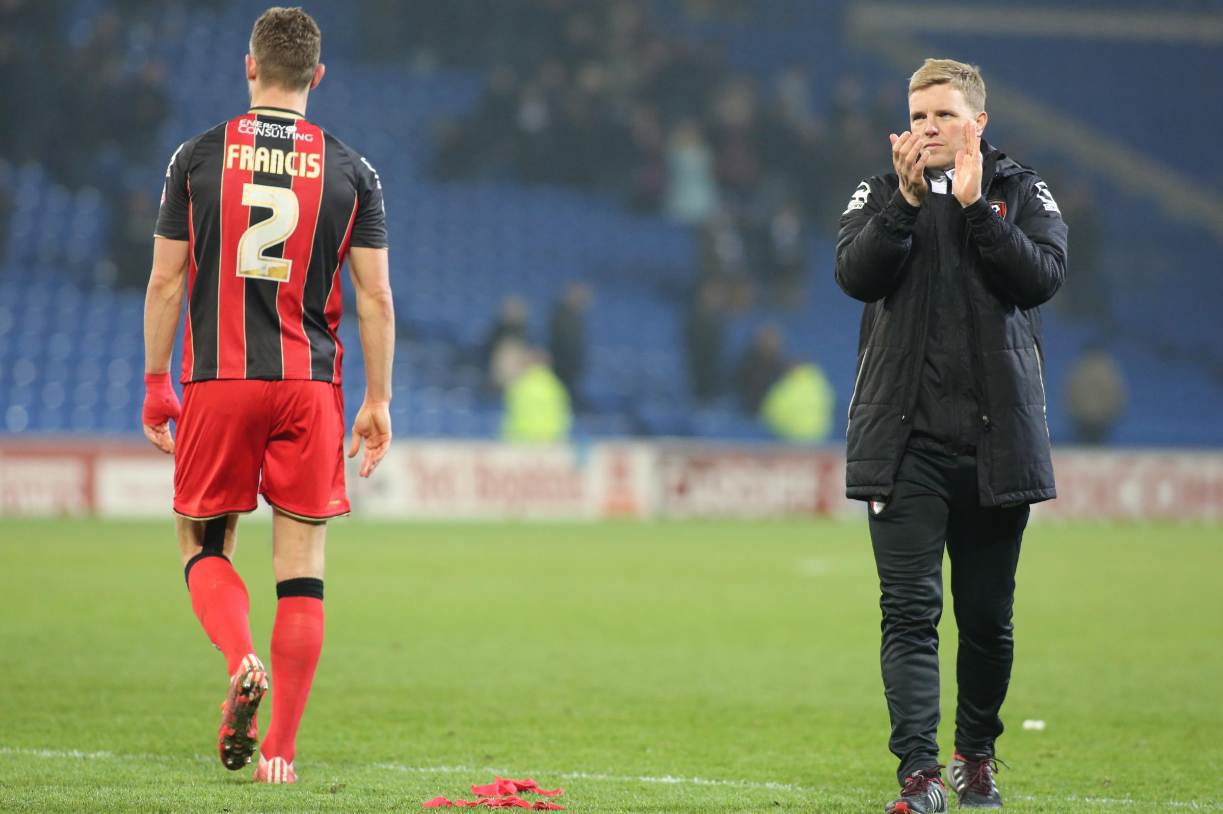 Eddie Howe says AFC Bournemouth captain Simon Francis' mentality will help him to make a full recovery from his knee injury