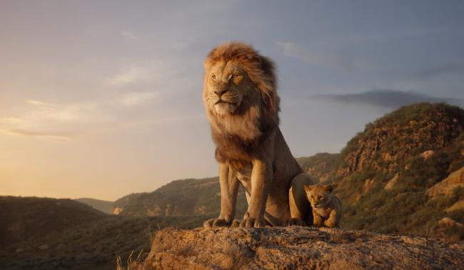 The Lion King. Pictured: Mufasa (voiced by James Earl Jones) and young Simba (JD McCrary). Picture: PA Photo/Disney Enterprises, Inc. All Rights Reserved.