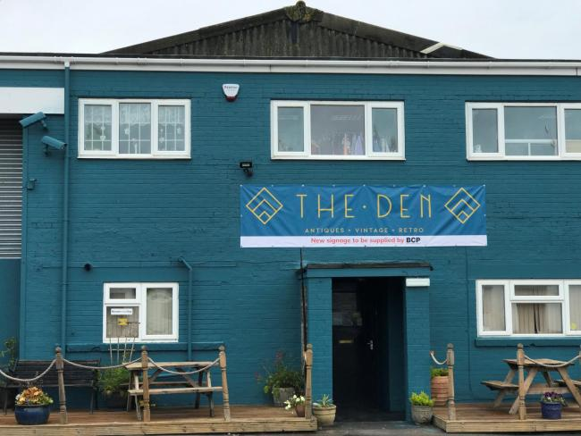 The Den's new frontage