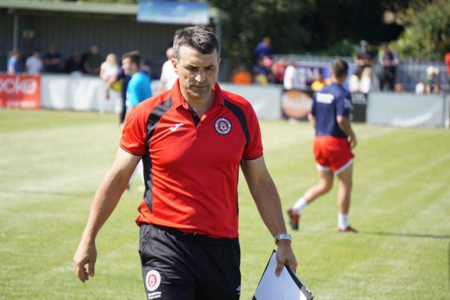 Poole Town boss Tom Killick.