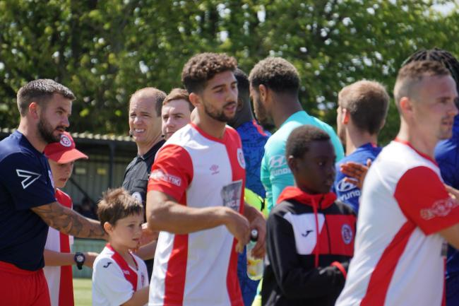 BACK IN ACTION: Poole Town's Marvin Brooks