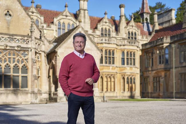Alan Titchmarsh outside Tyntesfield. Picture: PA Photo/Channel 5/Spun Gold TV/Tom Watkins.