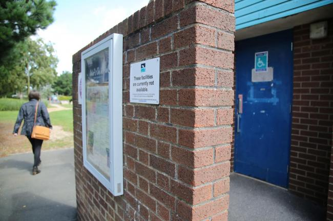 The public toilets in Baiter Park, Poole