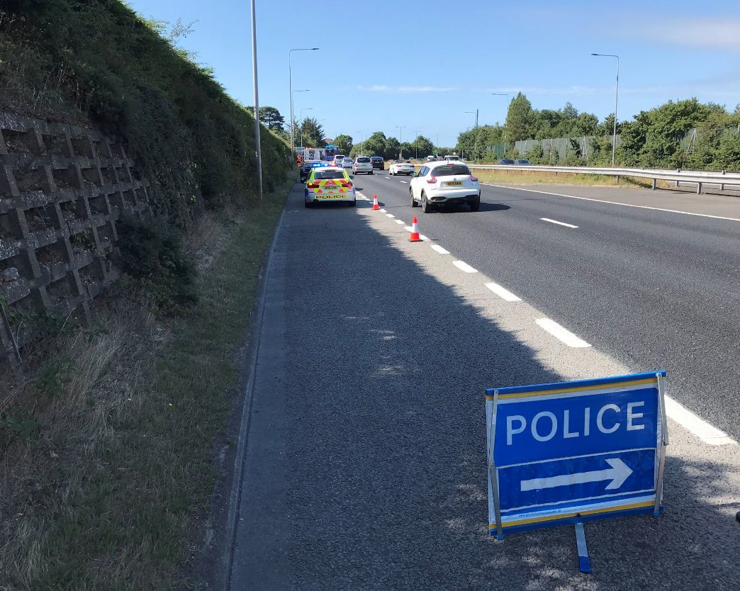 Convertible Audi dumped on A338 sliproad in 'dangerous position' causes crash