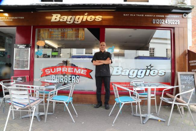 Baggies owner Mike Ismail outside of his business at the High Street in Christchurch..