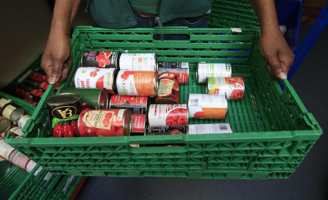 Embargoed to 0001 Thursday September 14..File photo dated 26/04/16 of stocks of food at the Trussell Trust Brent Foodbank in Neasden, London. PRESS ASSOCIATION Photo. Issue date: Thursday September 14, 2017. More must be done to help hard-pressed Britons,