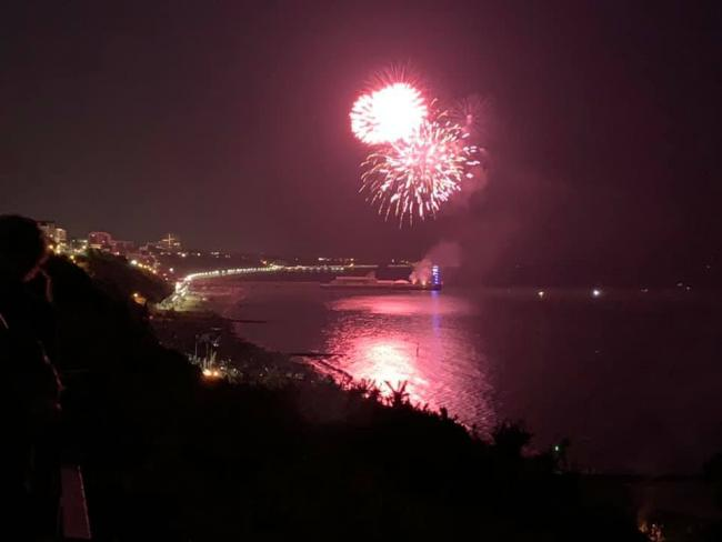 Fireworks over Bournemouth Pier on August 2.  Picture by Echo Camera Club member Bozena Gomolka?