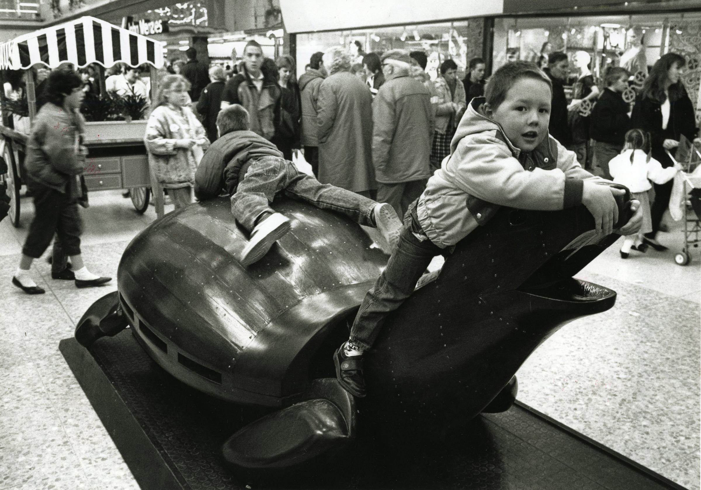 Picture of the Day: When you could climb on Poole's wooden animals