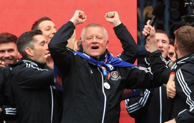 BLADES BOSS: Chris Wilder (Picture: PA)