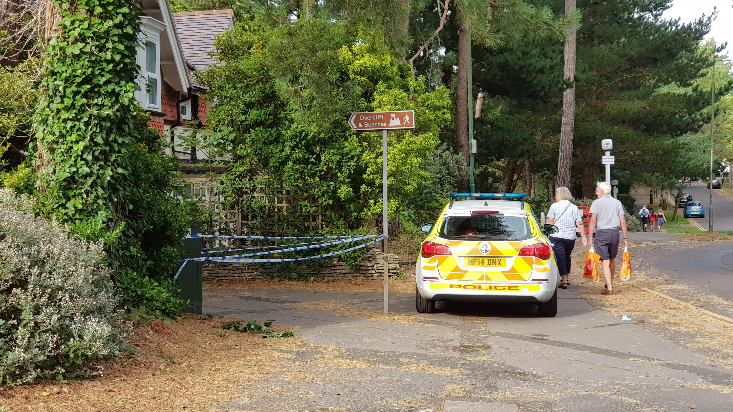 East Overcliff Drive cordoned off by police after incident