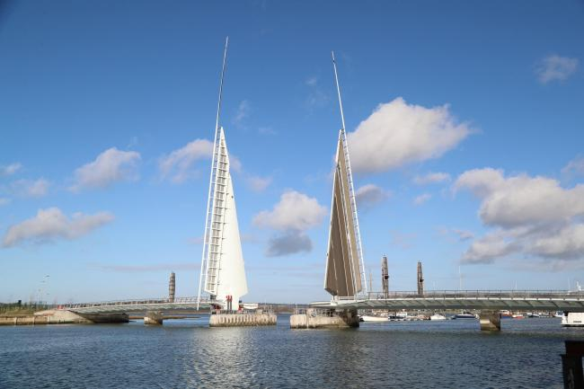 SHUT: The Twin Sails Bridge is expected to be out of action until October