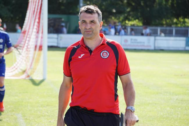 Poole Town boss Tom Killick