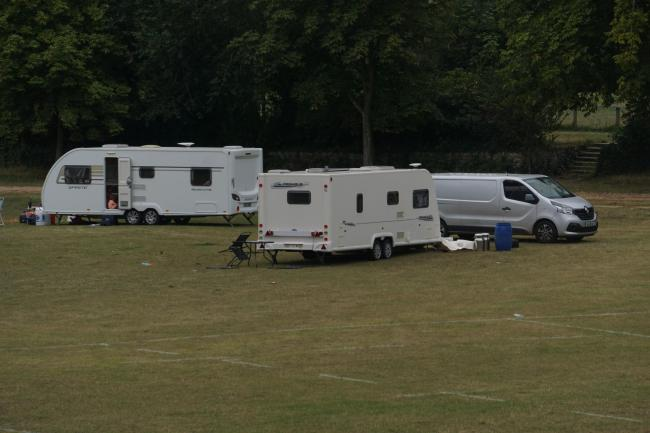 The group of travellers that have moved onto Meyrick Park