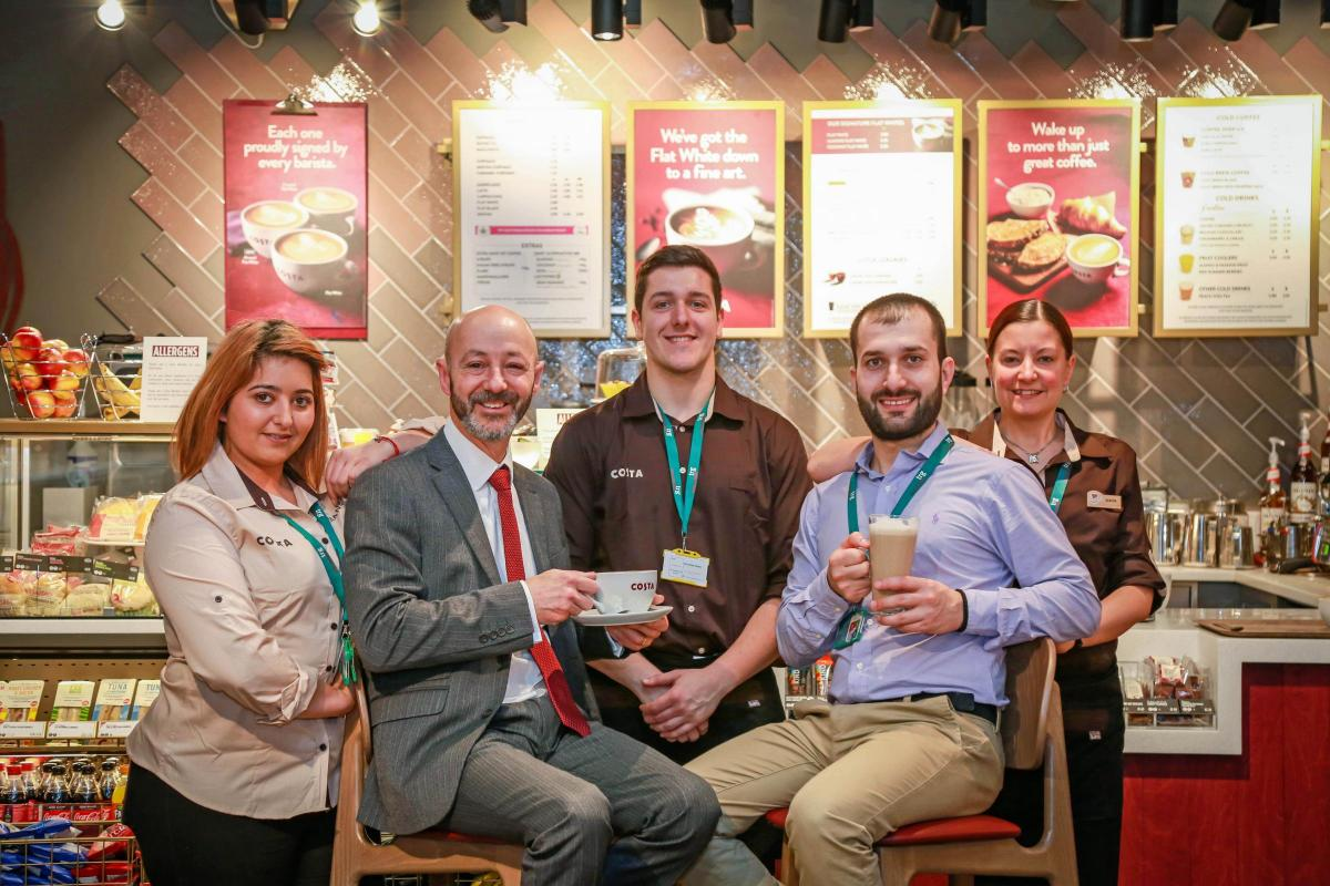 New Costa Coffee Opens At Bournemouth Airport Bournemouth Echo