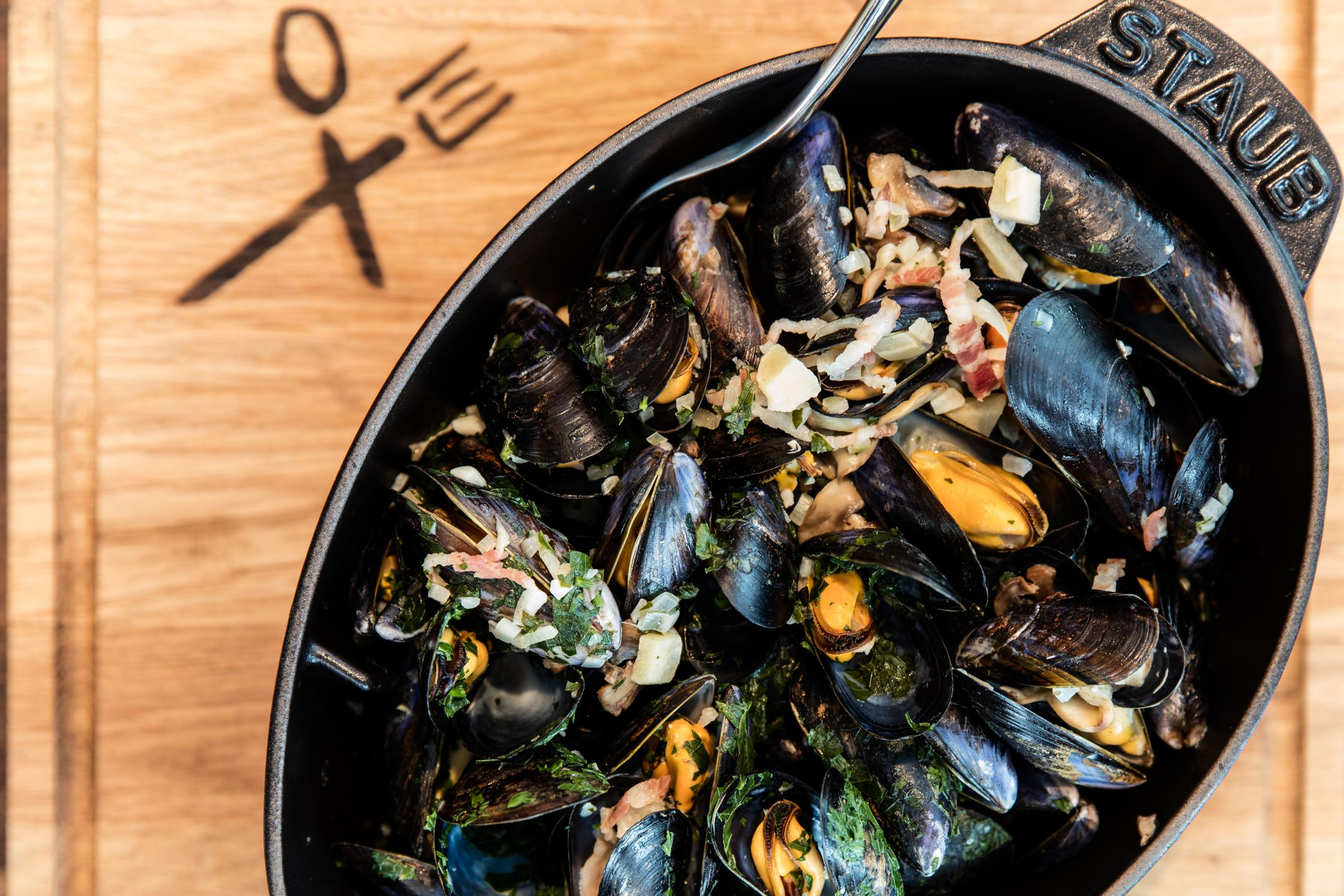 Cook this: Normandy-style mussels by Matt Budden of Hilton's Schpoons & Forx