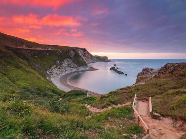 Man O' War beach at West Lulworth by Echo Camera Club Dorset member Marc Bailey
