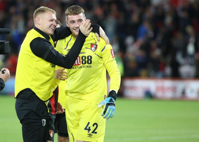 OUTSTANDING: Eddie Howe hailed the performance of Mark Travers against Forest Green