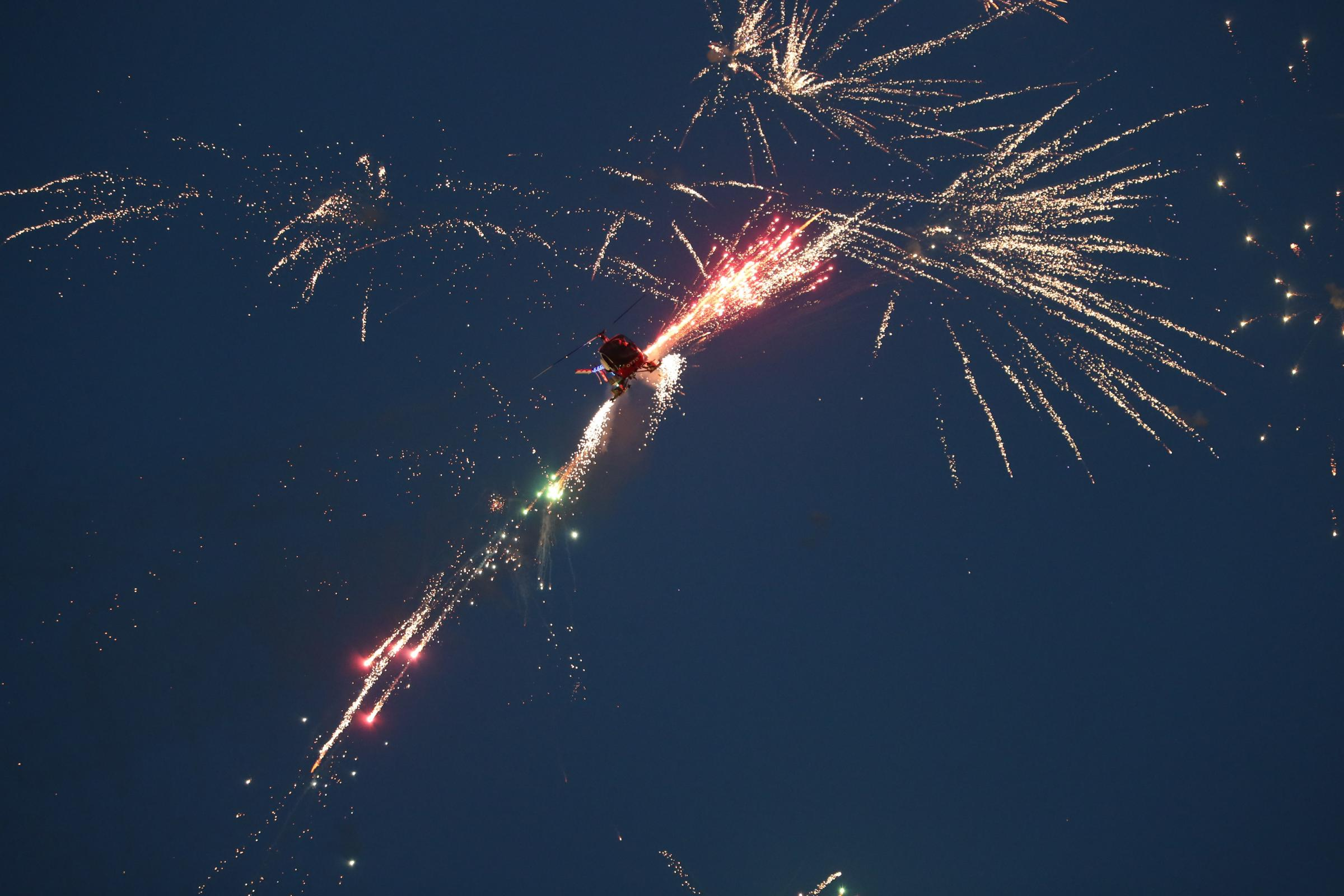 Pyrotechnic wonders deliver stunning Night Air display at Bournemouth Air Festival