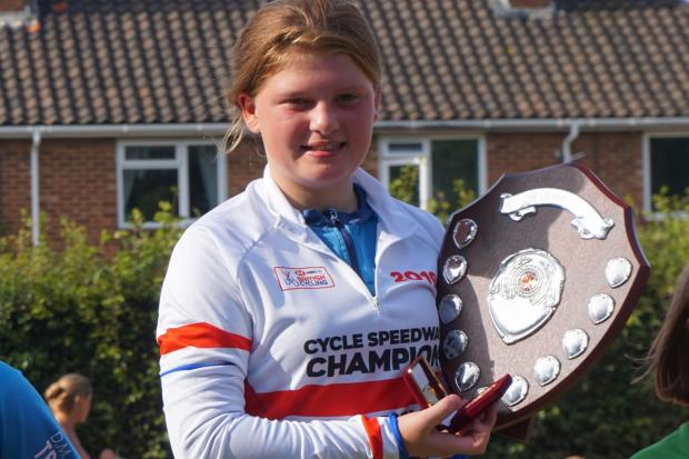 GOLDEN GIRL: Under-12 winner Lexi Curtis (Picture: Arthur Lawrence)