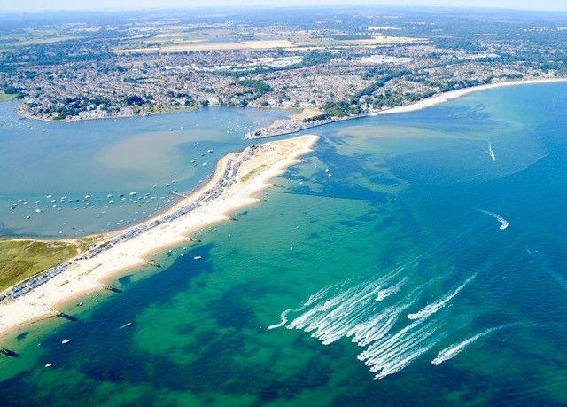 An aerial view of Mudeford. Picture by Stephen Bath