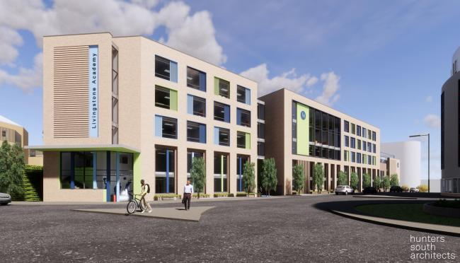 The proposed design for Livingstone Academy in Bournemouth