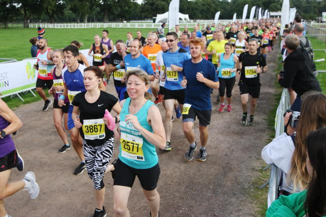 New Forest Marathon 2018 at New Park in Brockenhurst - Start of the half marathon.