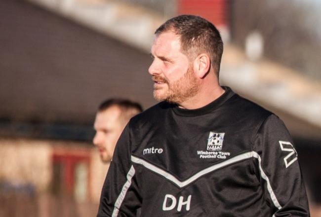 POSITIVES: Danny Holmes remained upbeat after Wimborne Town were dumped out of the FA Cup by Truro City (Picture: WTFC)