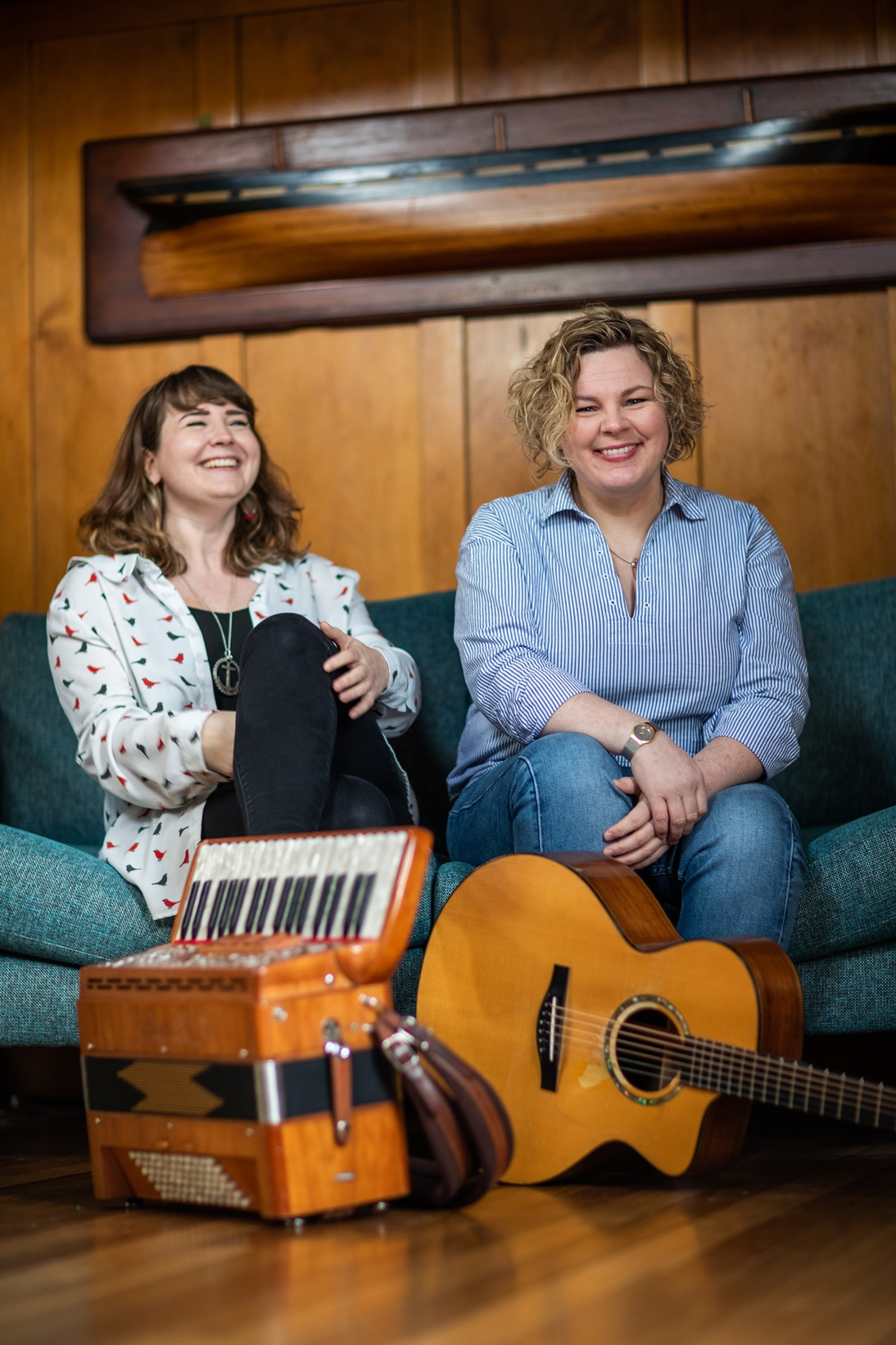Mairearad Green and Anna Massie at Celtic Folk Ferndown