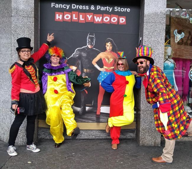 Poole BID team prepare for the Circus Spectacle with some clowning around