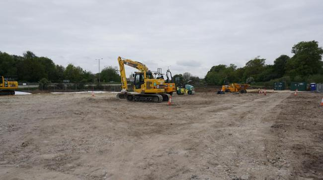 The site at Marshes End, Creekmoor, Poole