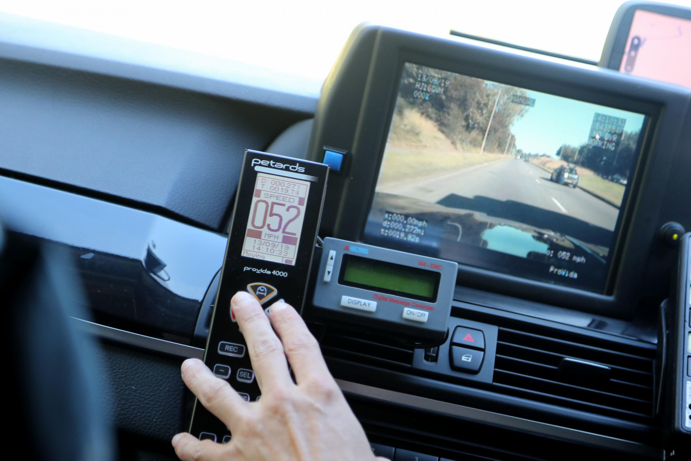 PCs use shadows to catch speeders with VASCAR
