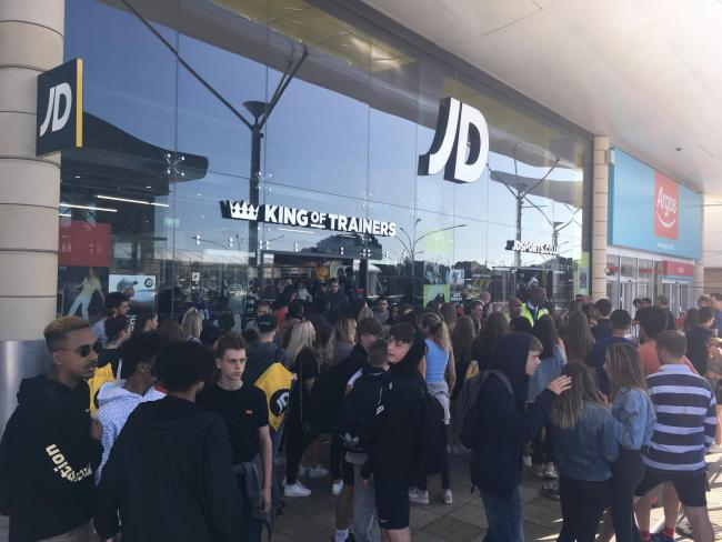 Opening of JD Sports at Castlepoint Shopping Centre