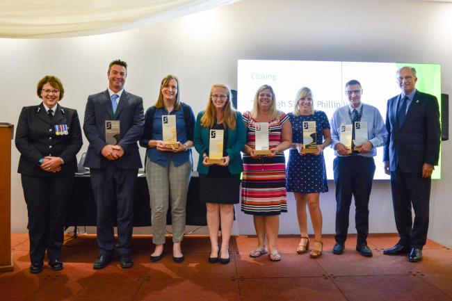 WINNERS: Recipients of the Schools Road Safety Engagement awards