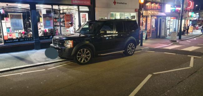 Dorset Police's No Excuse team spotted the Range Rover on the zig zags in Old Christchurch Road. Image: No Excuse