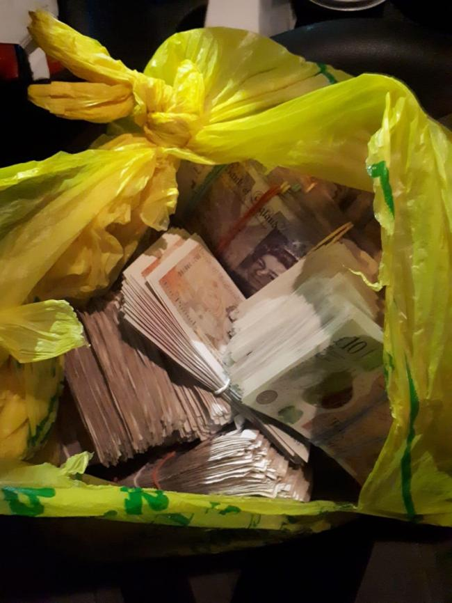 Police recover a record haul of criminal cash