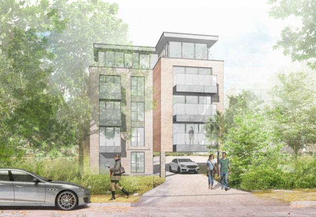 PLANS: A CGI of the block of flats proposed for the Cabbage Patch car park in St Stephen's Road, Bournemouth