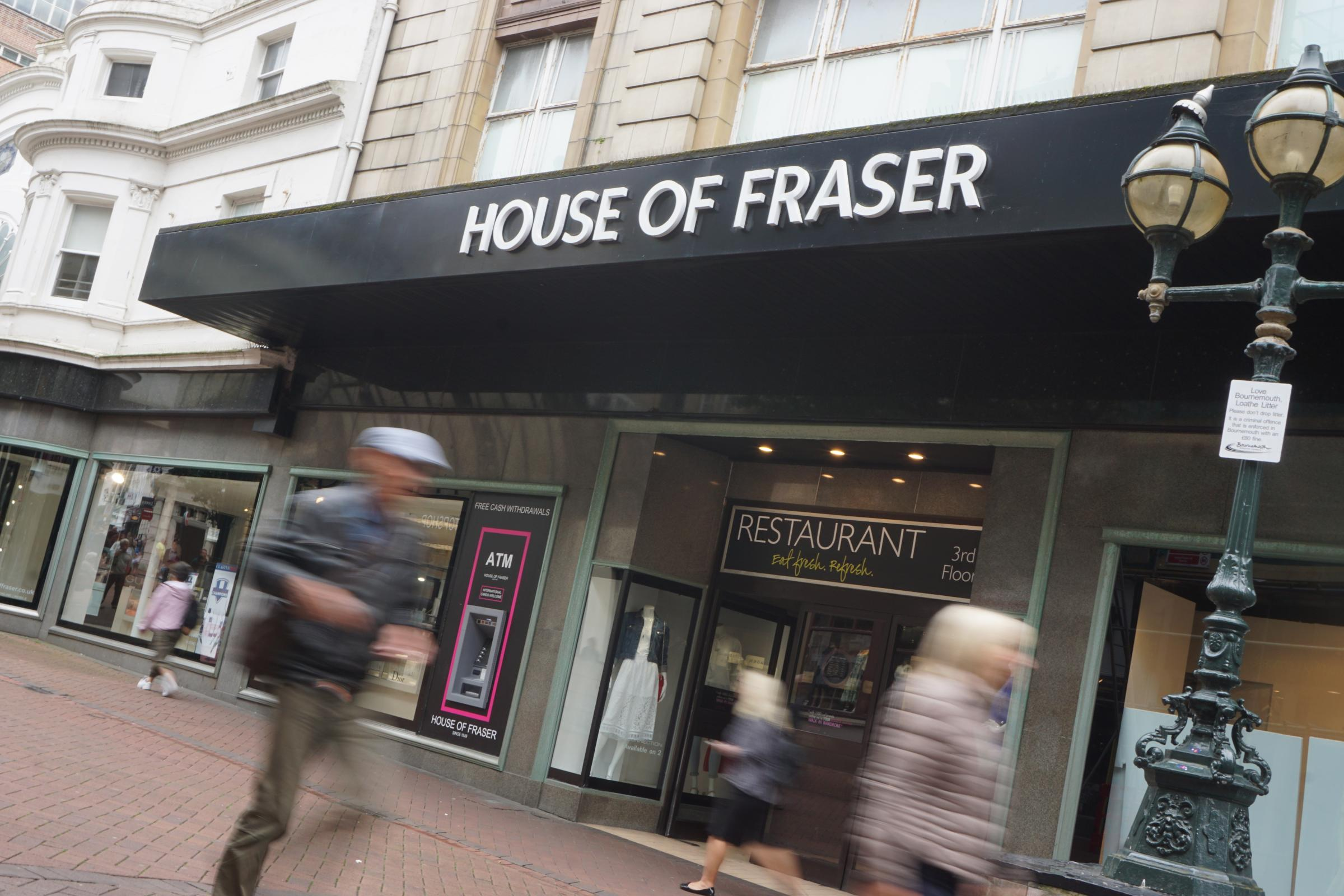 House of Fraser denies planning to close almost all stores
