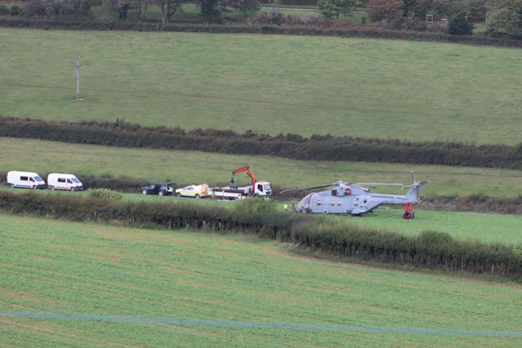 '£25m' Merlin was stranded in Corfe Castle field for a week