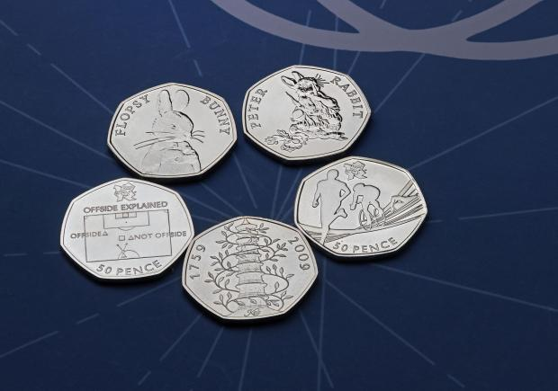 Bournemouth Echo: The rarest 50p coins. Credit: Royal Mint/PA Wire