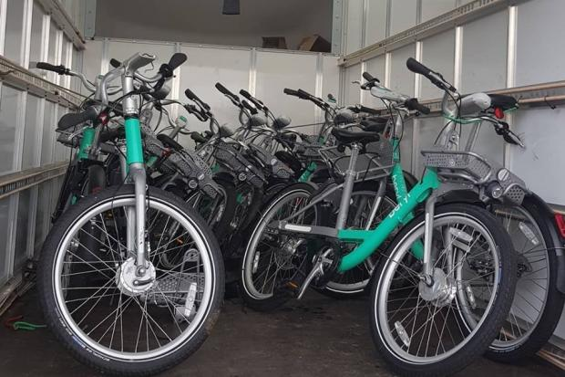 Beryl bikes have been rounded up to Bournemouth South Police