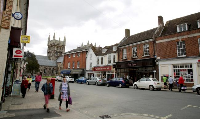 Stock pictures. .Wimborne Town Centre..