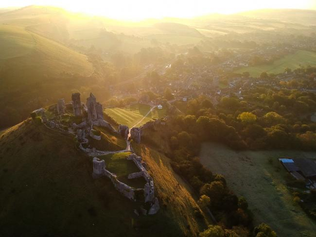 Corfe Castle will reopen to visitors on Wednesday. Picture by Echo Camera Club Dorset member Alan Dobson